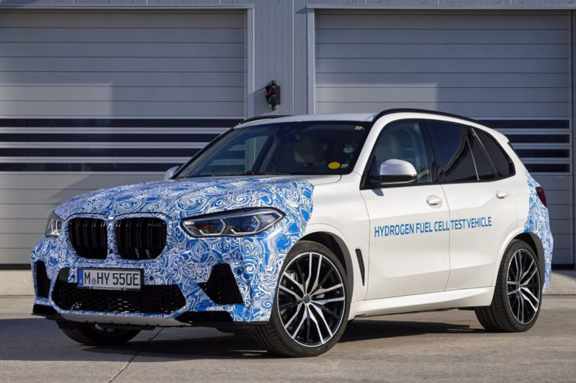 BMW X5 with hydrogen fuel tested on public roads