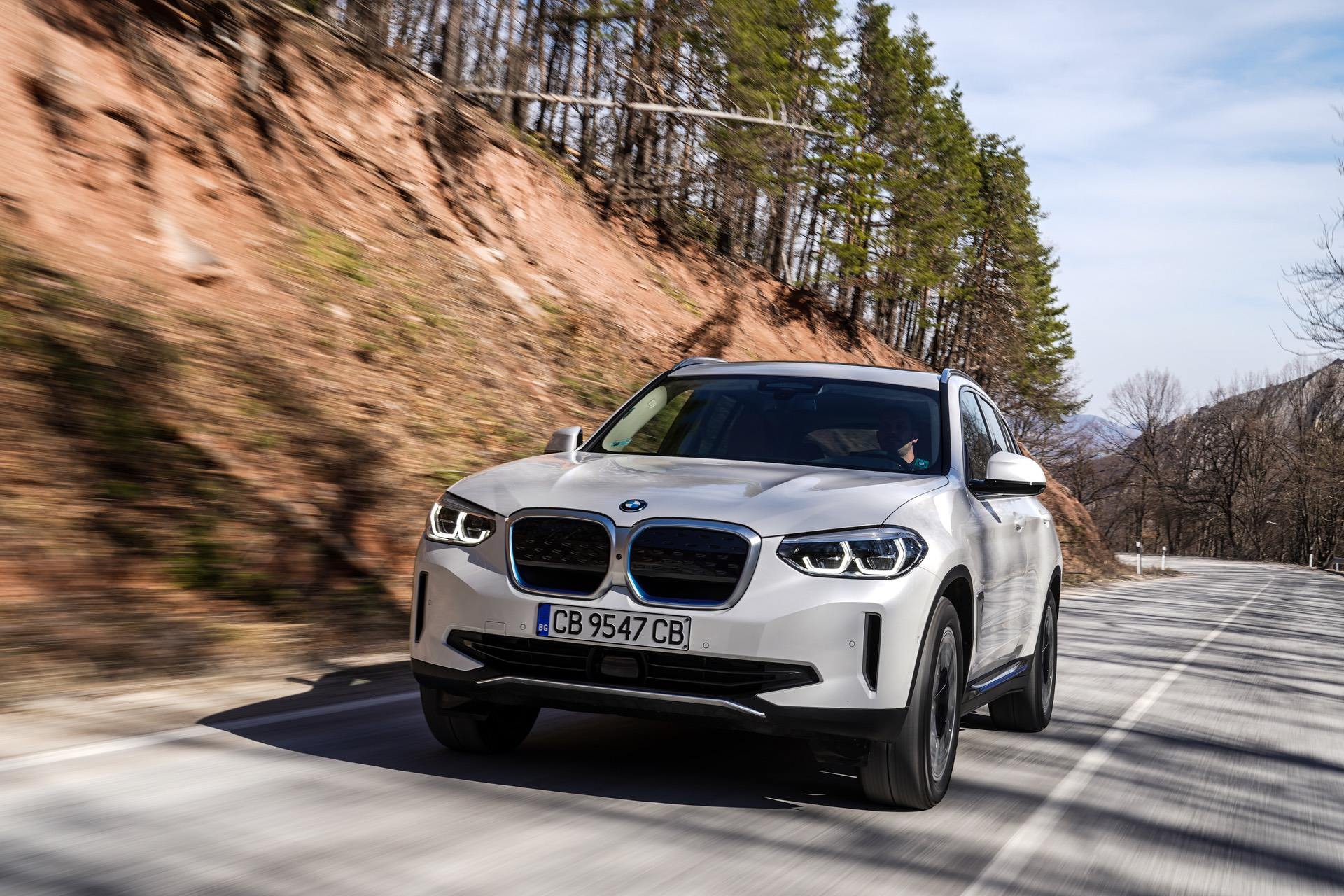 BMW iX3 goes for a drive in Eastern Europe