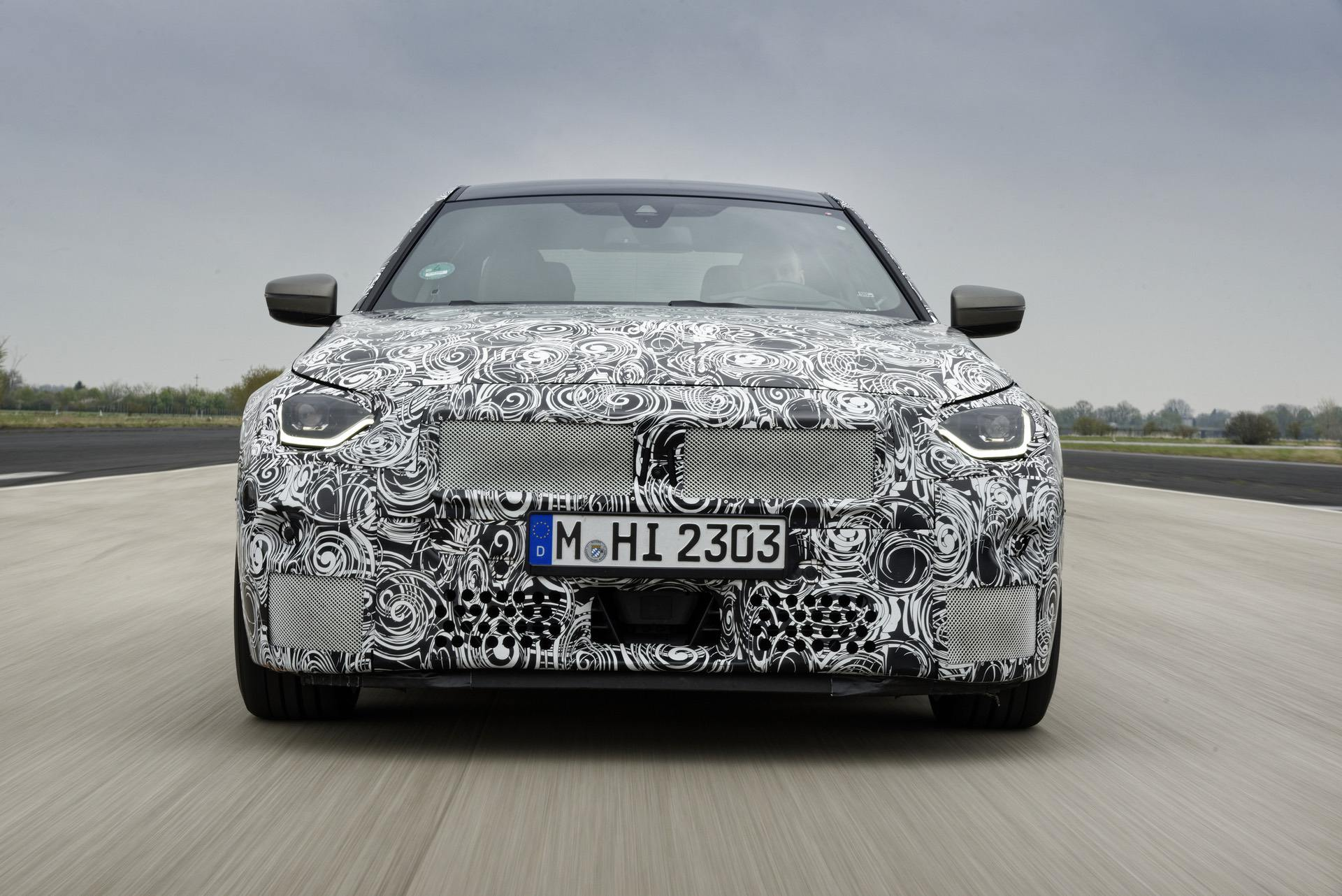 Upcoming BMW 2 Series Coupe RWD appears with a camouflage