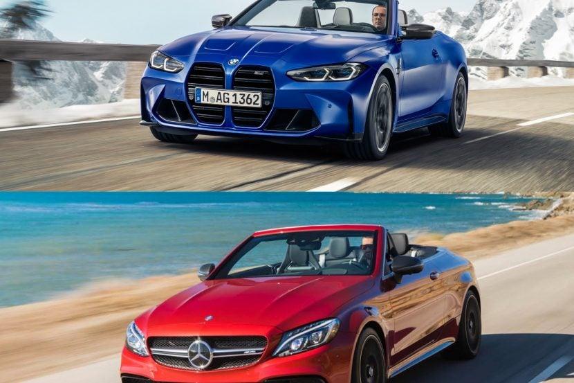 Photo Comparison: 2022 BMW M4 Convertible vs Mercedes-AMG C63 Cabriolet