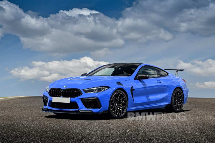 Is this the BMW M8 CSL going around the racetrack?