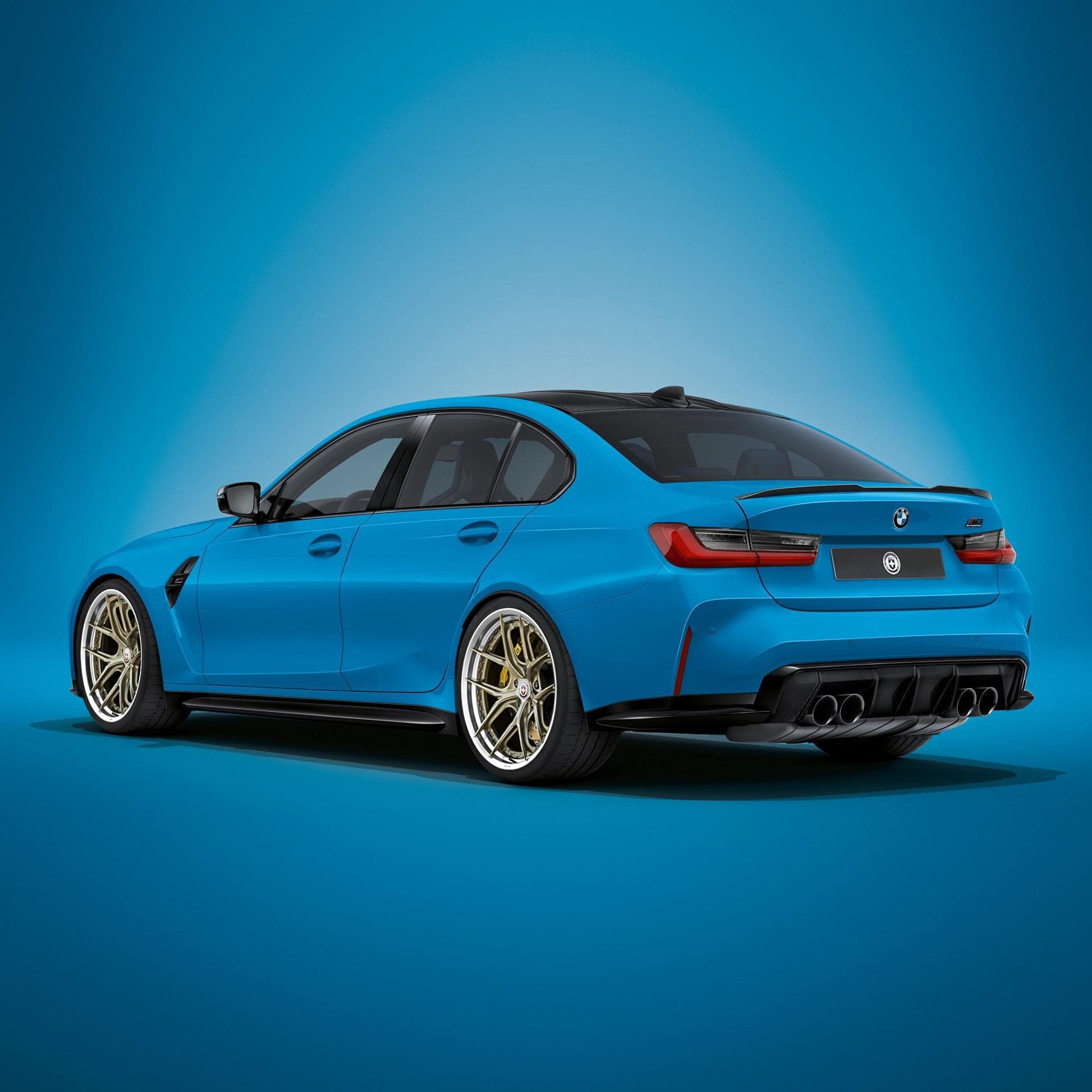 New BMW M3 and M4 rendered with aftermarket wheels from HRE