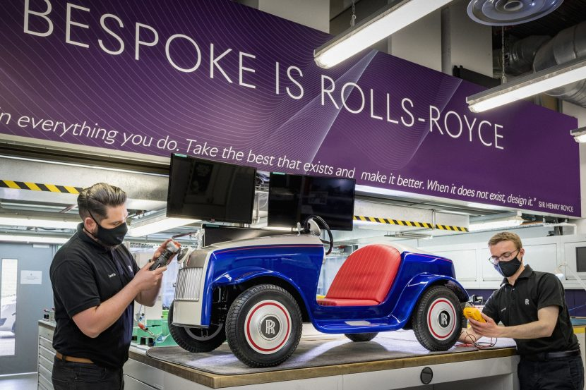 Special, electric Rolls-Royce SRH gets serviced in Goodwood