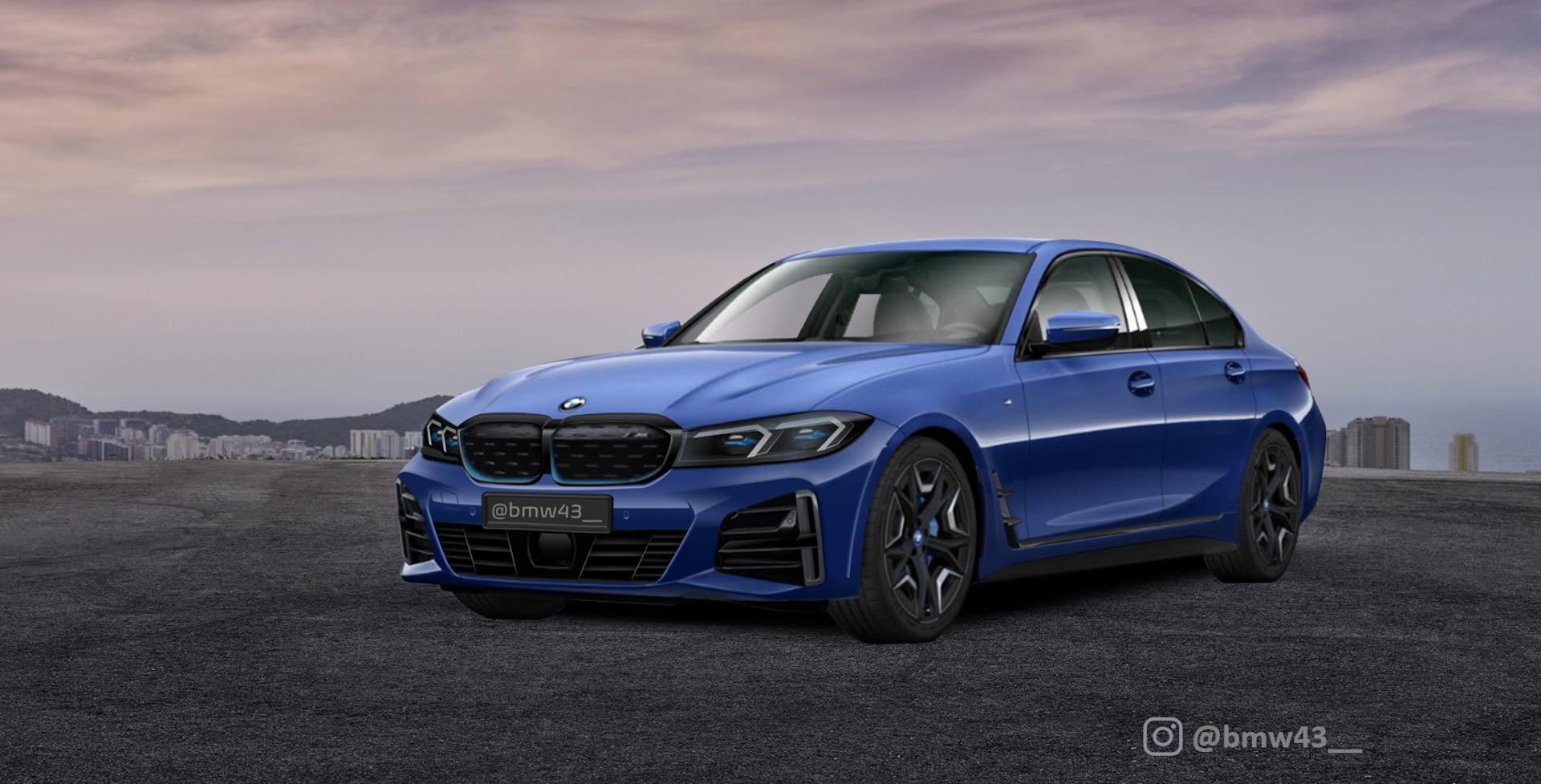 Future 2022 BMW 3 Series / i3 electric sedan rendered