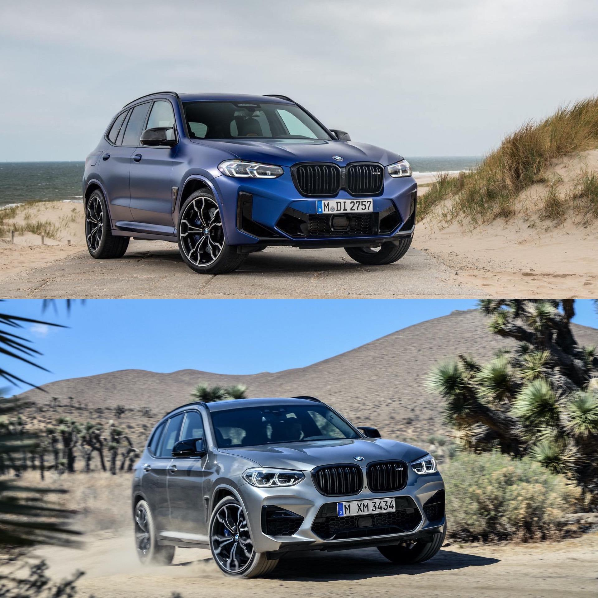 bmw x3m facelift vs no lci 04