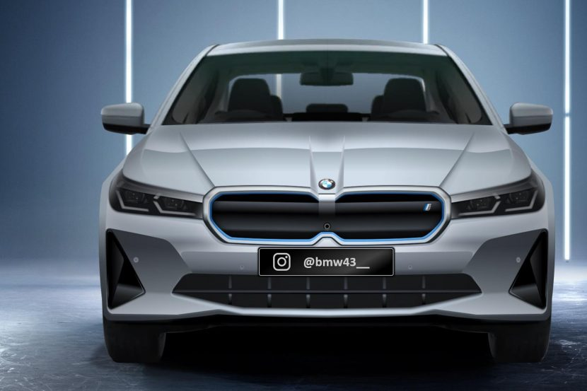 2023 BMW i5 Electric Sedan shows its face in a new rendering