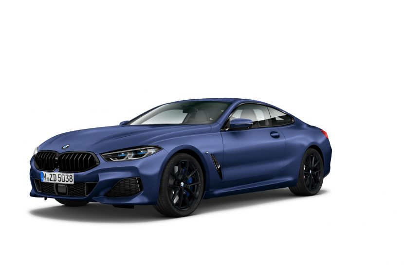 BMW 8 Series Coupe Heritage Edition in Frozen Marina Bay Blue 830x553
