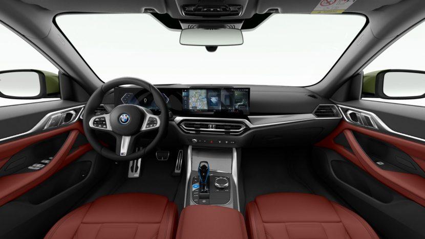 BMW i4 Vernasca Tacora Red interior