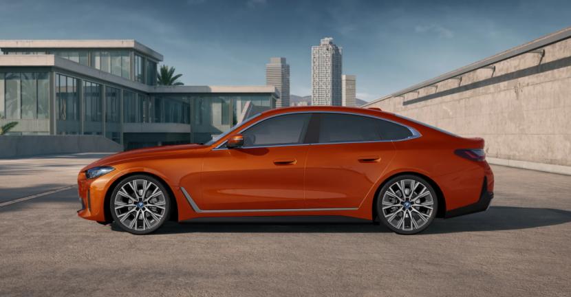 BMW i4 eDrive40 featured in Sunset Orange metallic 2
