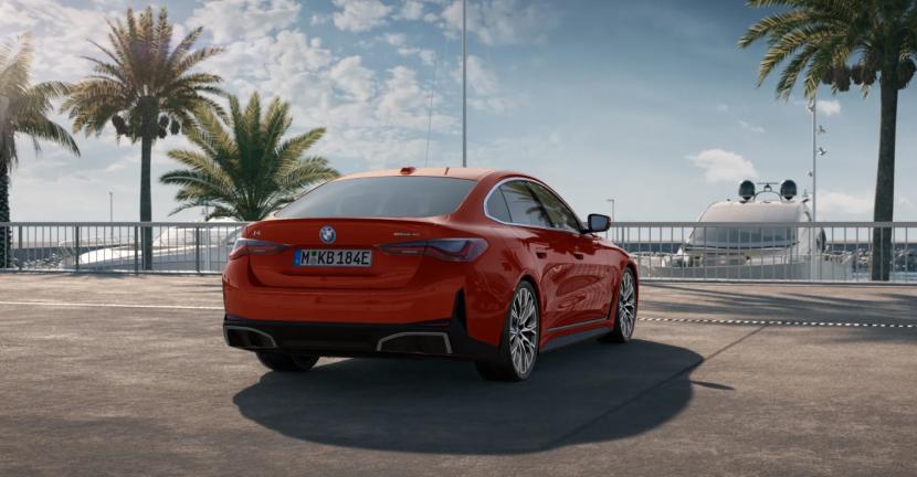 BMW i4 eDrive40 featured in Sunset Orange metallic 3