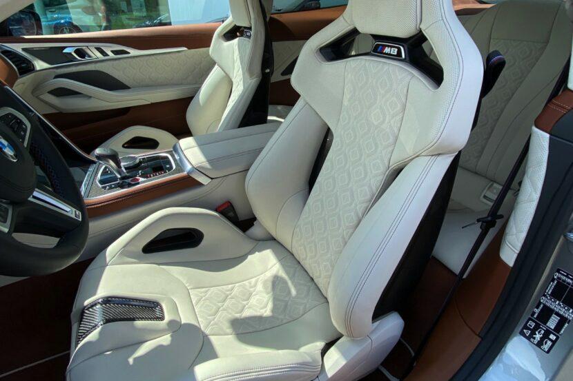 BMW M8 F92 M Carbon Schalensitz Leder Merino Elfenbeinweiss Tartufo 02 830x553