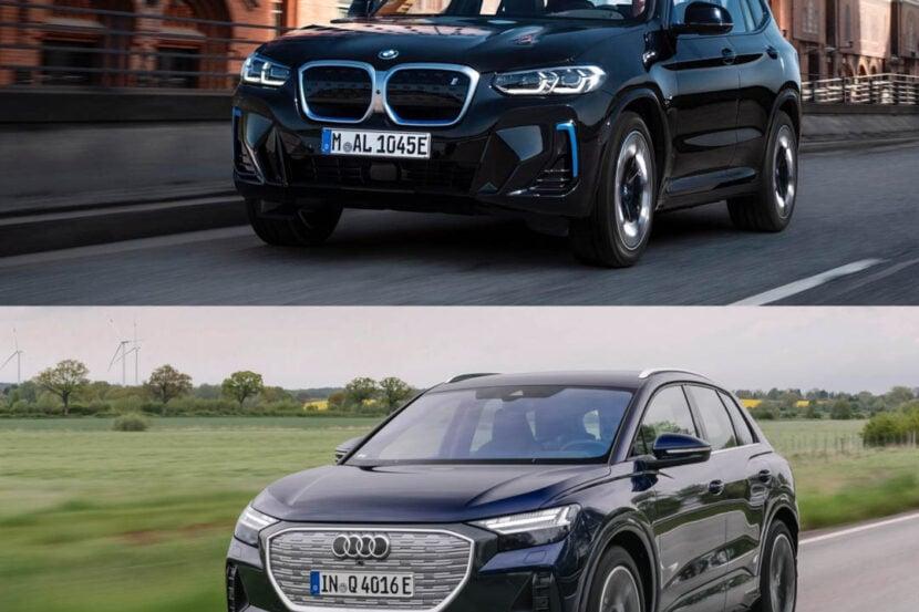 BMW iX3 LCI vs Audi Q4 e tron 1 of 4 830x553
