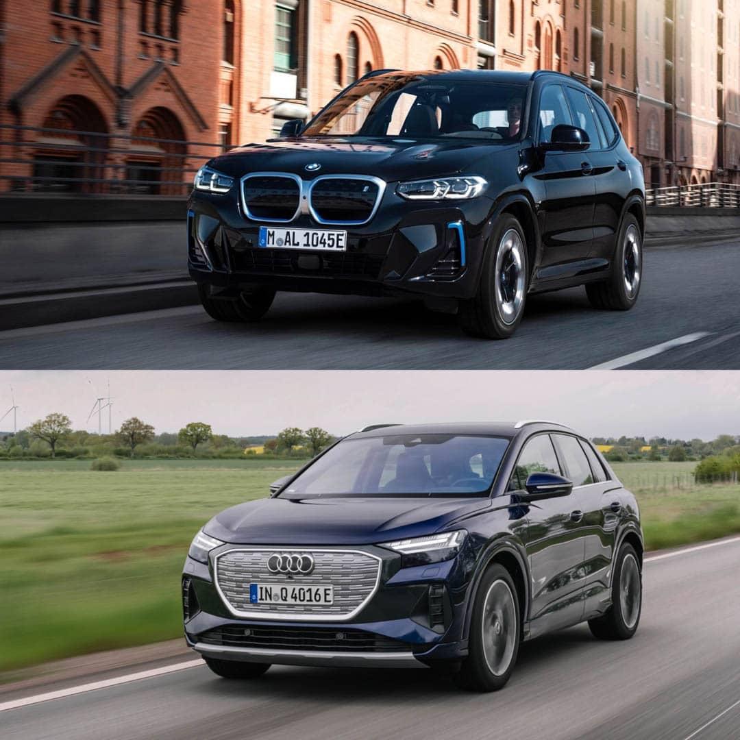 BMW iX3 LCI vs Audi Q4 e tron 1 of 4