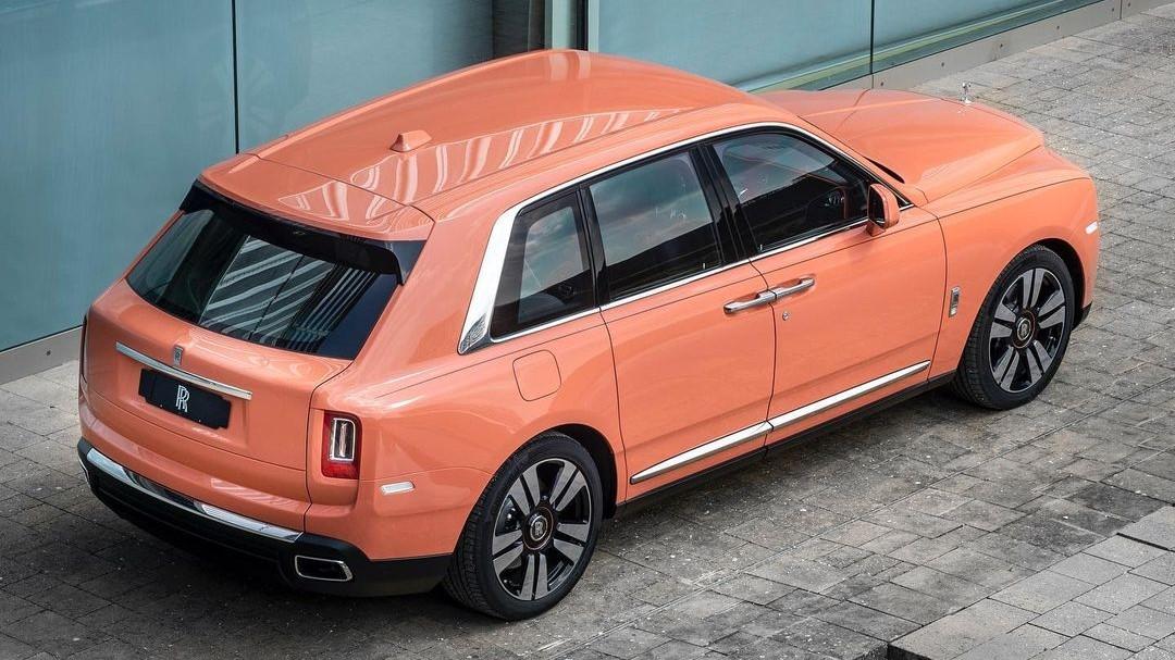 Dusty Coral Rolls Royce Cullinan 1