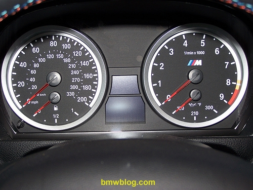 BMW E92 M3 Gauges