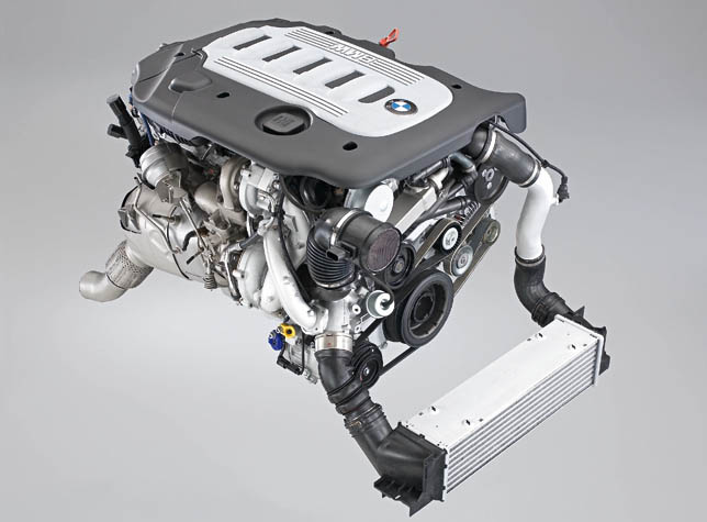 6 cylinder diesel engine with variable twin turbo technology
