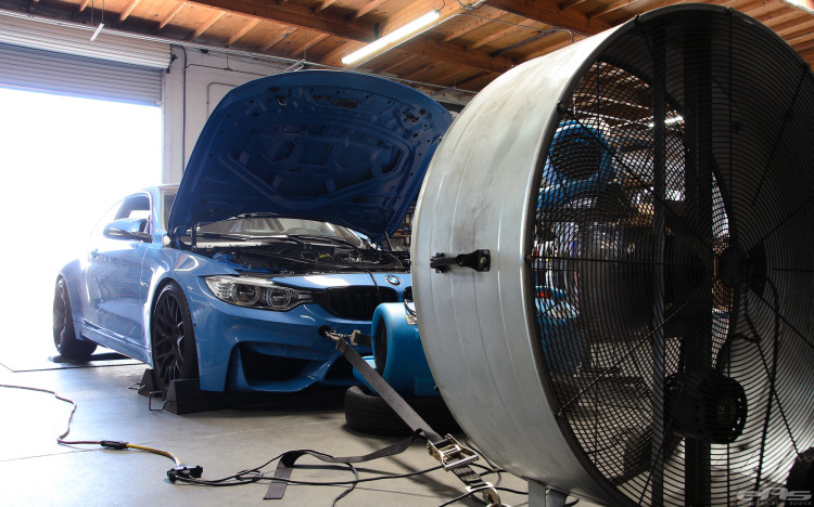 Yas Marina Blue M4 On Matte Black GTS Wheels