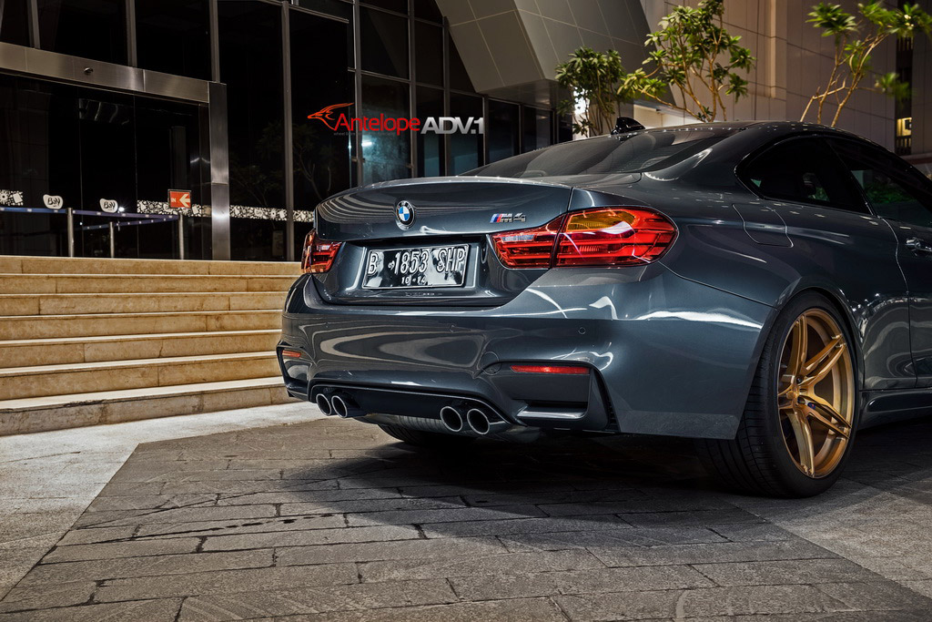 Bmw F82 M4 With Matte Bronze Adv 1 Wheels