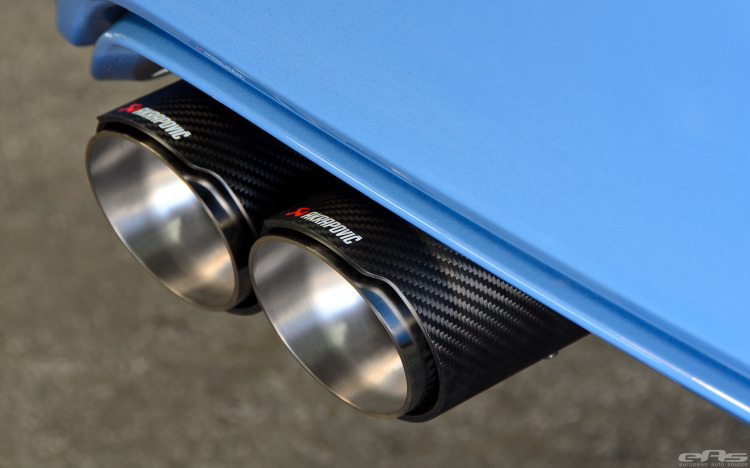 Akrapovic Exhaust And KW HAS Installed On Yas Marina Blue M4 Image 26