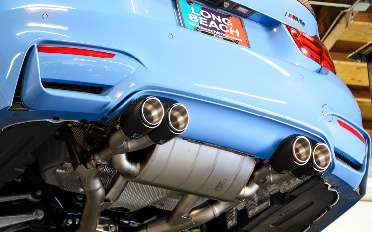 Akrapovic Exhaust And KW HAS Installed On Yas Marina Blue M4 Image 27