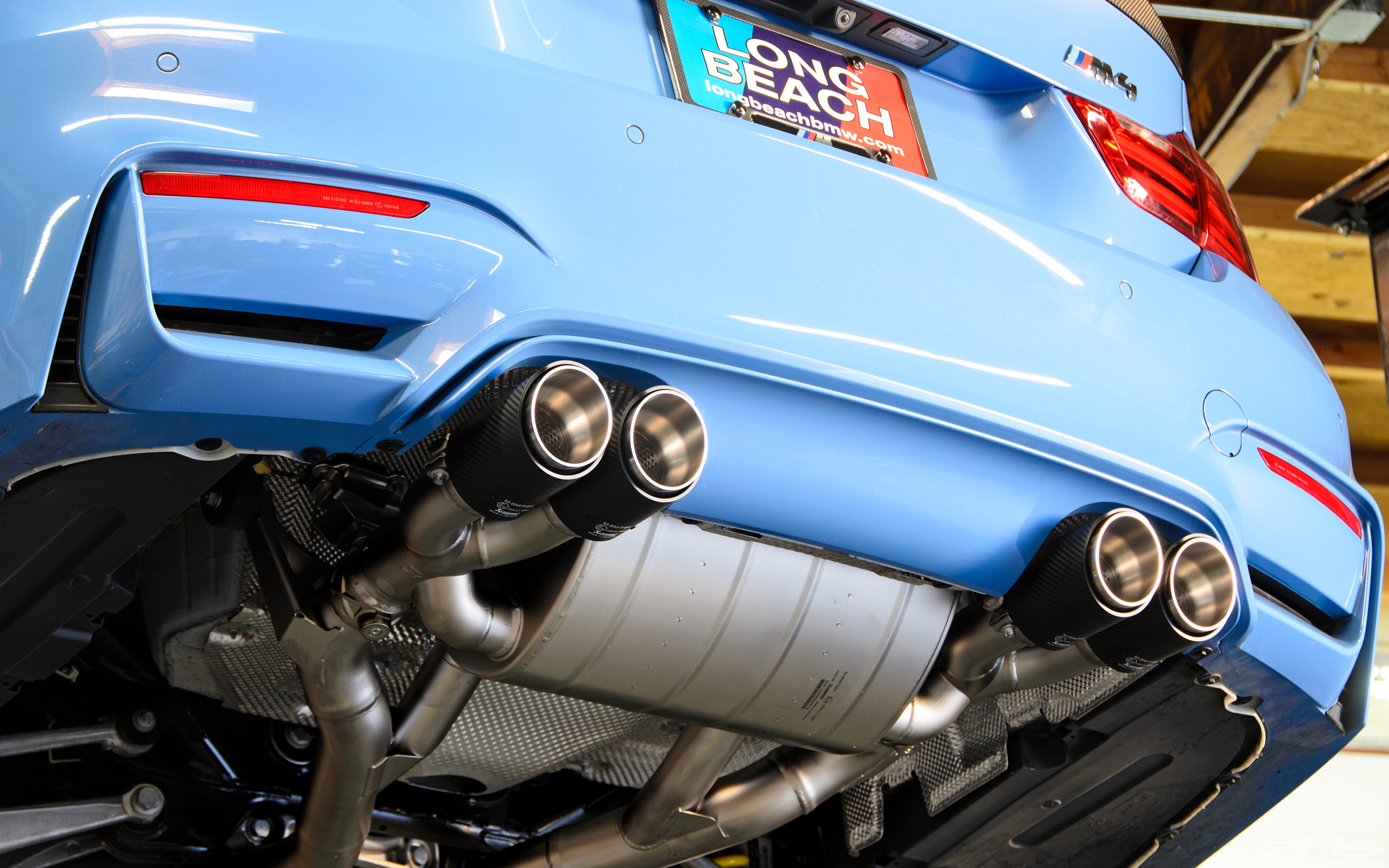Akrapovic Exhaust And Kw Has Installed On Yas Marina Blue M4