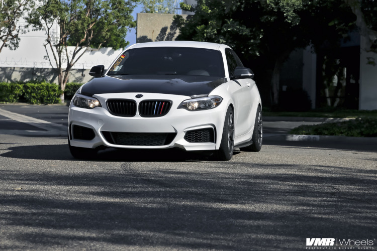 Alpine White BMW 2Series On VMR Wheels 1 750x500