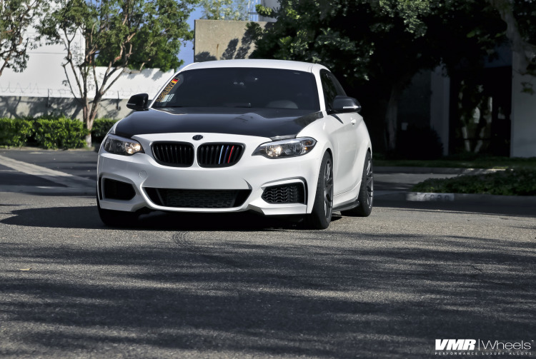 Alpine White BMW 2Series On VMR Wheels 1 750x503