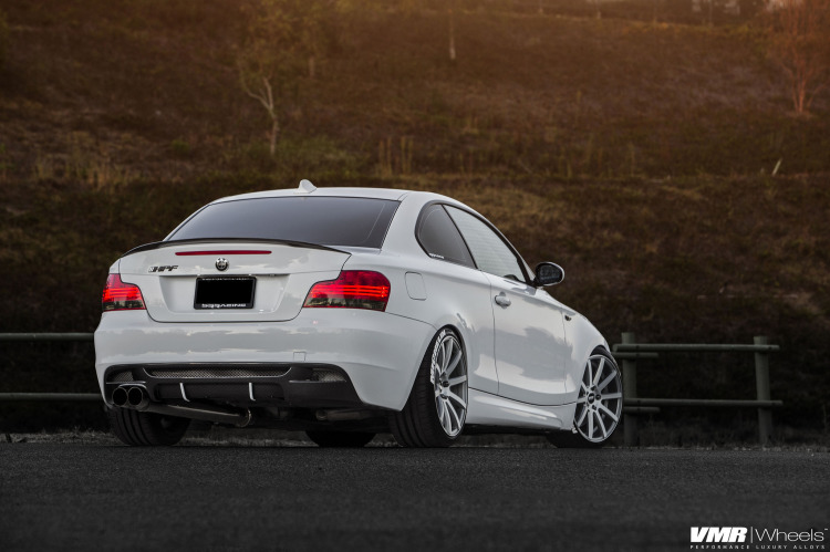Alpine White Bmw E82 135i With Vmr Wheels