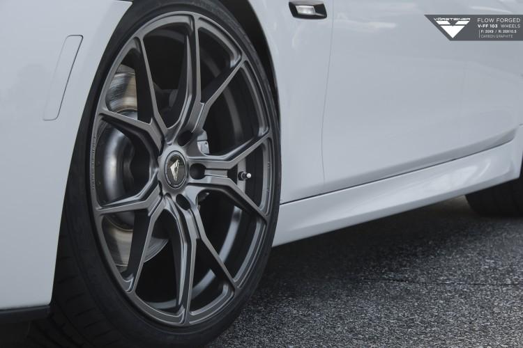 Alpine White BMW F10 5 Series Rocking Vorsteiner Wheels 3 750x500