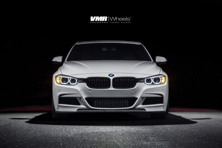 Alpine White BMW F30 335i With V702 Matte Gunmetal Wheels 1 750x500