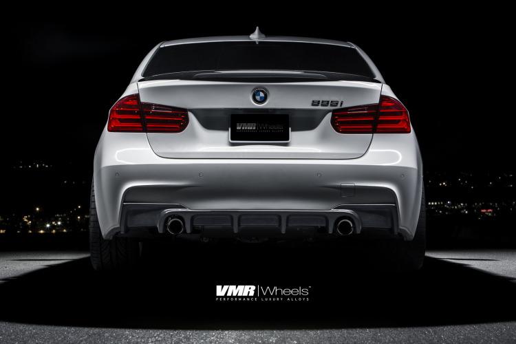 Alpine White BMW F30 335i With V702 Matte Gunmetal Wheels 2 750x500
