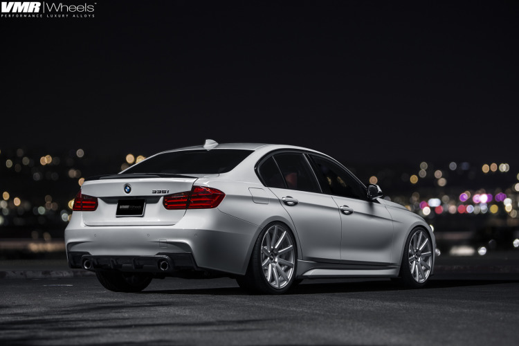 Alpine White BMW F30 335i With V702 Matte Gunmetal Wheels 5 750x500