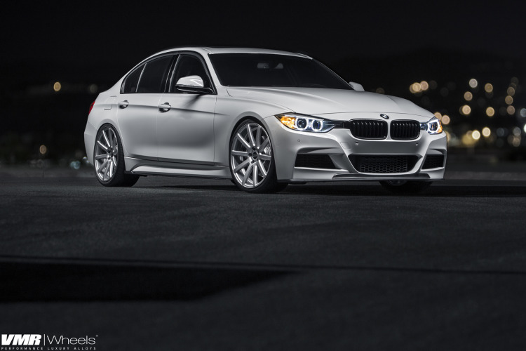 Alpine White BMW F30 335i With V702 Matte Gunmetal Wheels 6 750x500