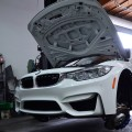 Alpine White BMW F80 M3 Gets Low And Wide