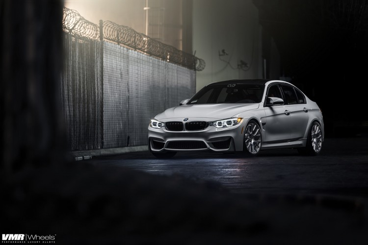 Alpine White BMW F80 M3 On VMR Wheels V810 Photoshoot 1 750x500