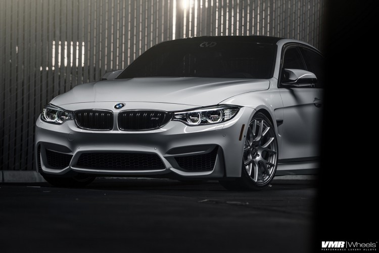 Alpine White BMW F80 M3 On VMR Wheels V810 Photoshoot 2 750x500