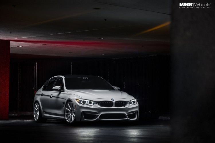 Alpine White BMW F80 M3 With VMR 702 Wheels