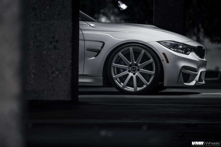 Alpine White BMW F80 M3 With VMR 702 Wheels 2 750x500