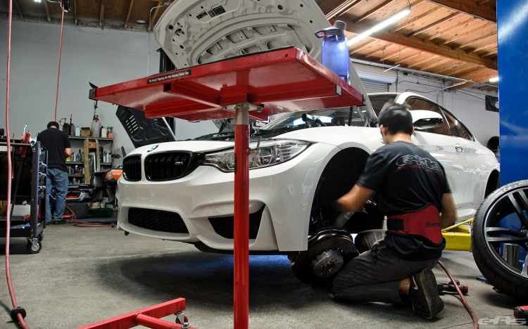 Alpine White BMW F82 M4 In For Some Mods At EAS