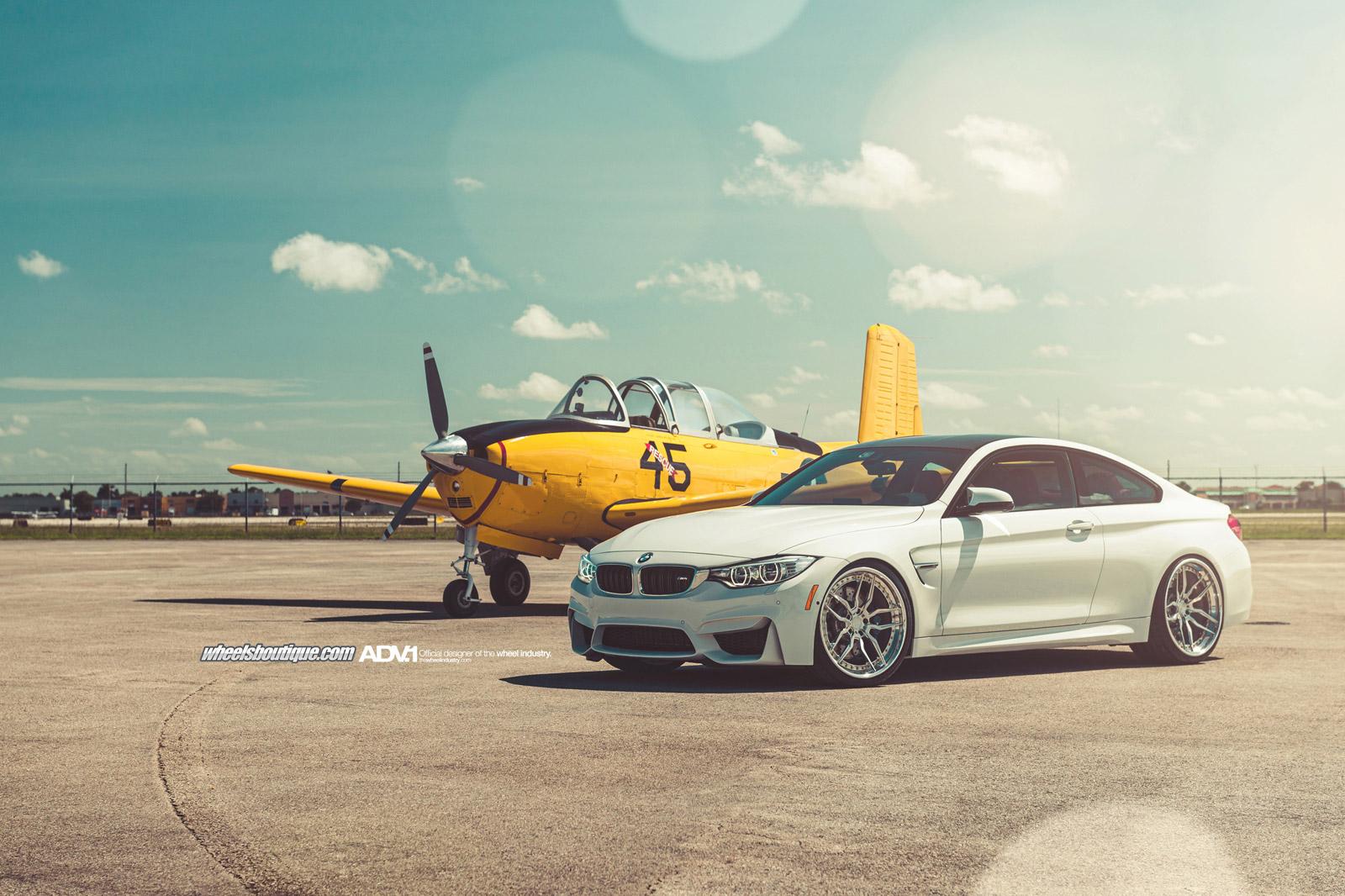 Alpine White BMW F82 M4 With ADV1 Wheels 31
