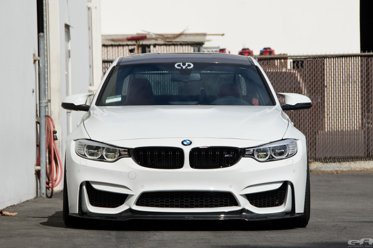 Alpine White BMW F82 M4 With Vorsteiner Carbon Fiber Aero Parts 1 750x500
