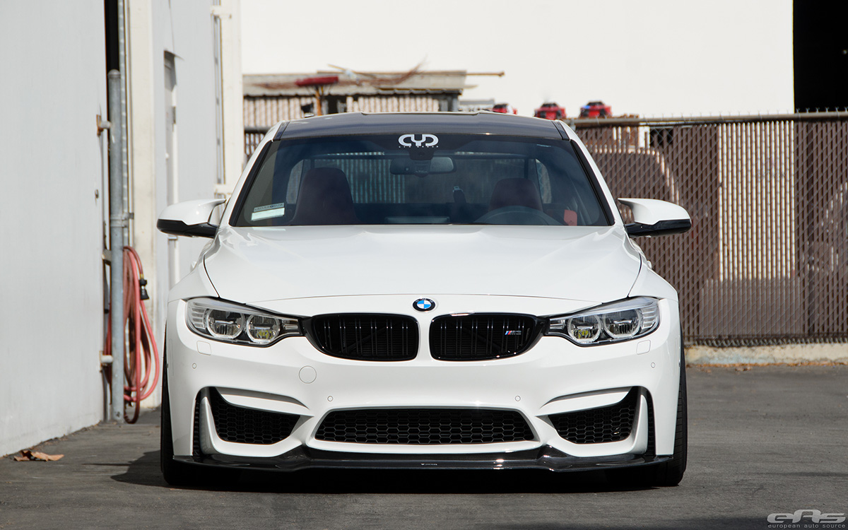 Alpine White BMW F82 M4 With Vorsteiner Carbon Fiber Aero Parts 1