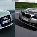 Audi A6 C7 BMW 5er F10 Bildvergleich Front schraeg 120x120