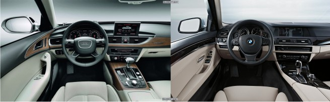 Audi-A6-C7-BMW-5er-F10-Bildvergleich-Interieur