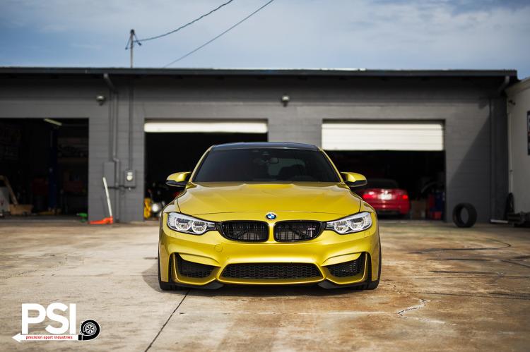 Austin Yellow BMW F80 M3 By PSI Image 1 750x499