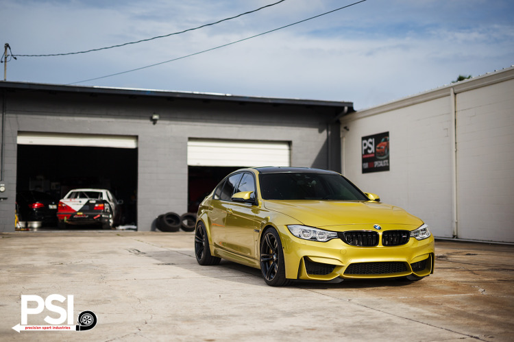 Austin Yellow BMW F80 M3 By PSI Image 2 750x499