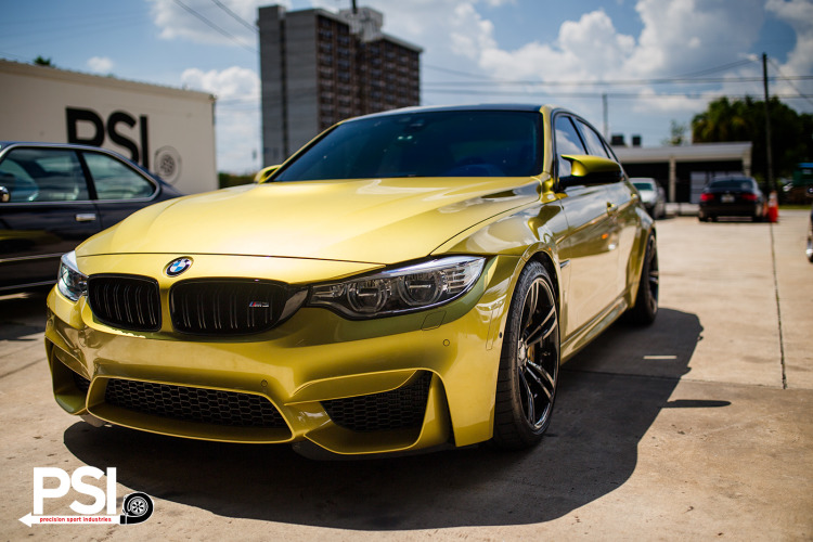 Austin Yellow BMW F80 M3 By PSI Image 4 750x500