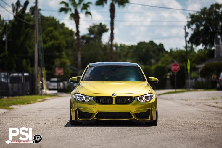 Austin Yellow BMW F82 M4 By Precision Sport Industries 16 750x500