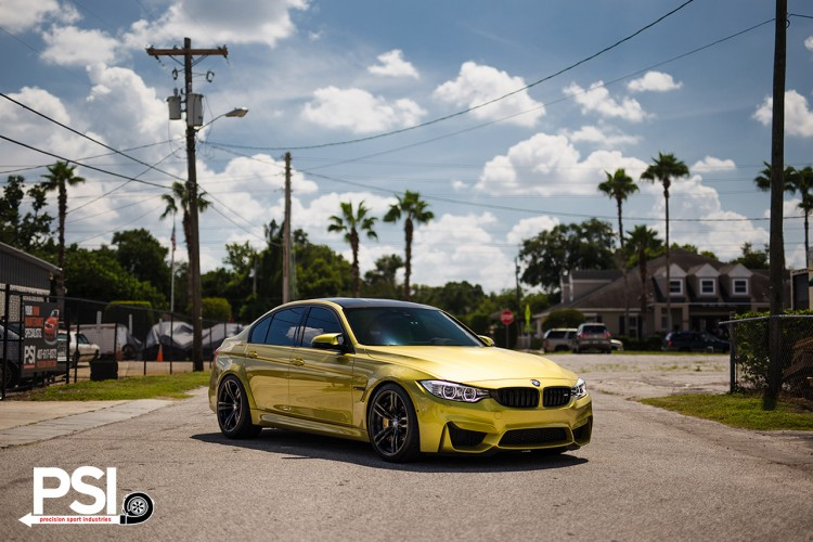 Austin Yellow BMW F82 M4 By Precision Sport Industries 17