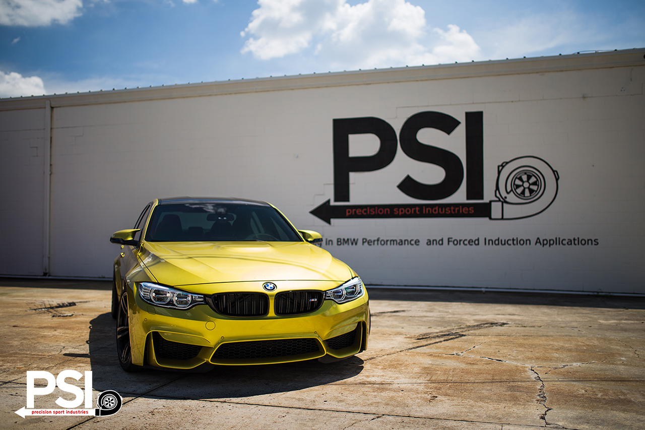 Austin Yellow BMW F82 M4 By Precision Sport Industries 7
